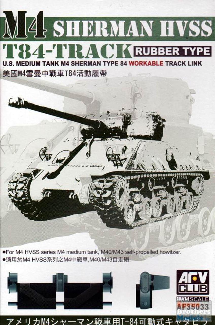 AFV35033 1:35 AFV Club M4 Sherman HVVS T-84 Track Rubber Type
