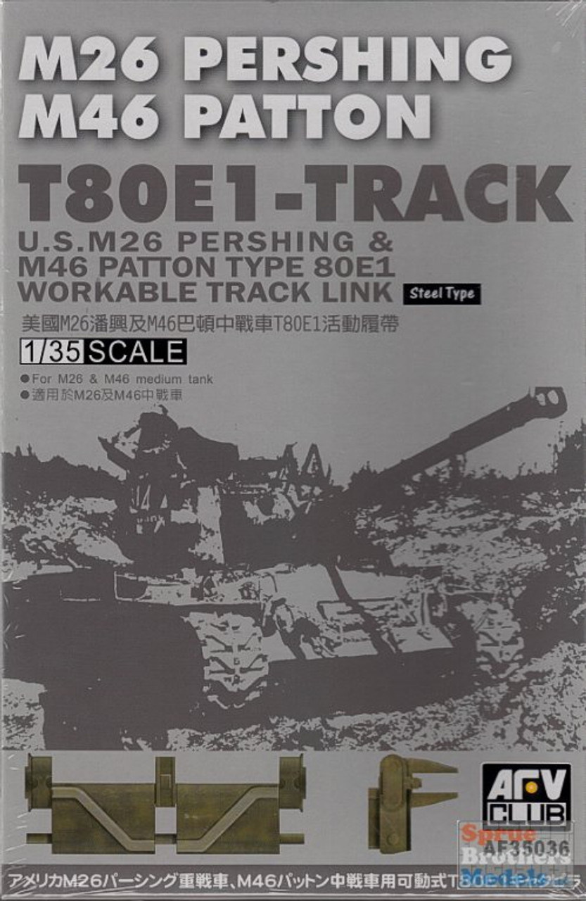 AFV35036 1:35 AFV Club T80E-1 Track (Workable) For M26 Pershing M46 Patton #35036