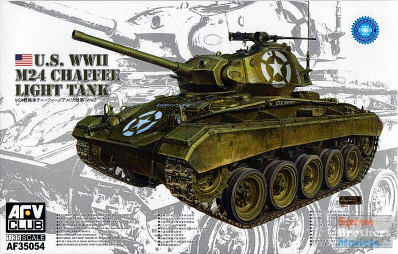 AFV35054 1:35 AFV Club US WW2 M24 Chaffee Light Tank