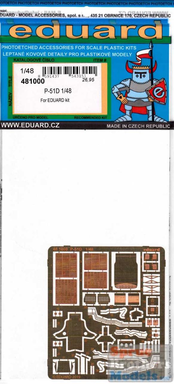 EDU481000 1:48 Eduard PE - P-51D Mustang Detail Set (EDU kit)