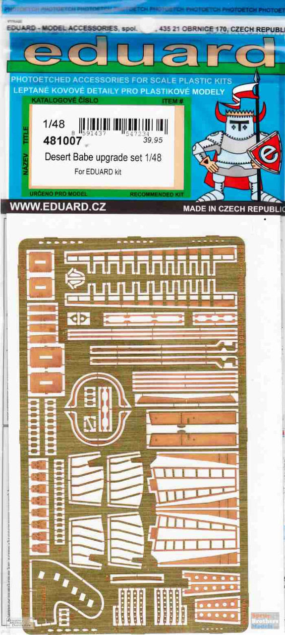 EDU481007 1:48 Eduard Color PE - Tornado GR.1 Desert Babe Upgrade Set (EDU kit)