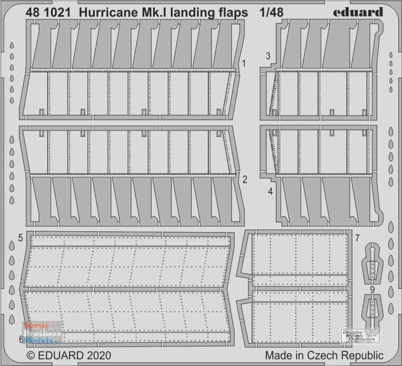 EDU481021 1:48 Eduard PE - Hurricane Mk.I Landing Flaps (AFX kit)