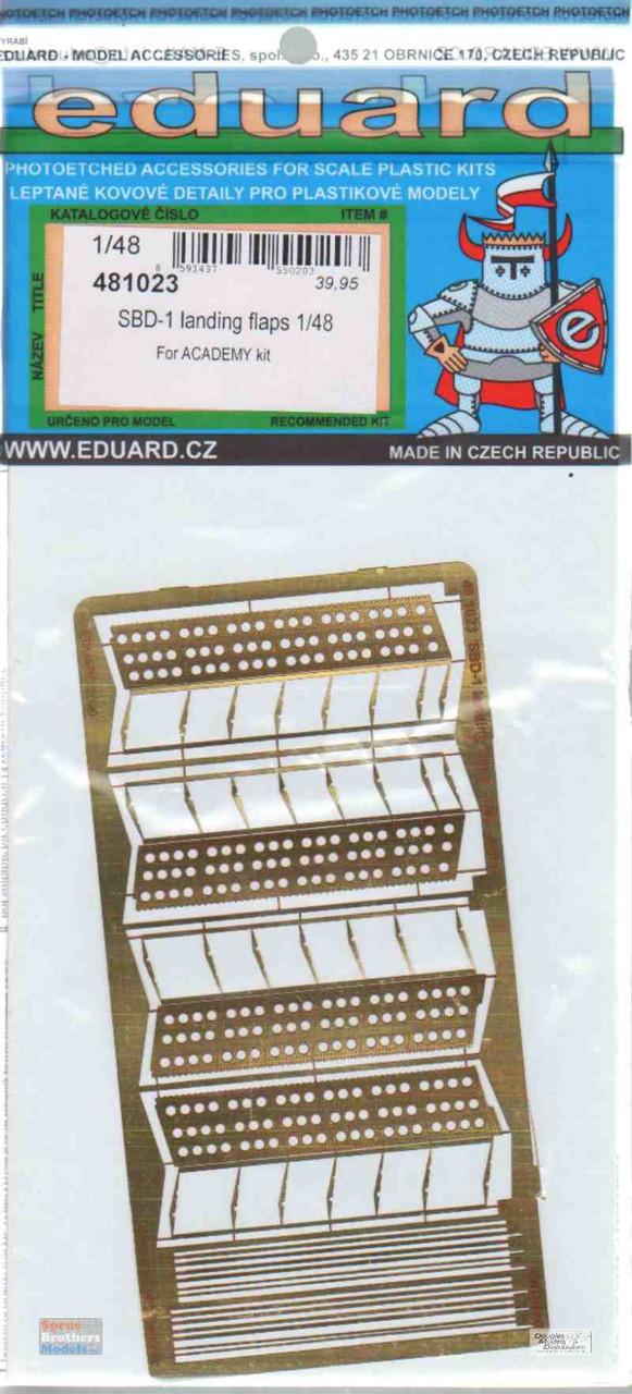 EDU481023 1:48 Eduard PE - SBD-1 Landing Flaps (ACA kit)