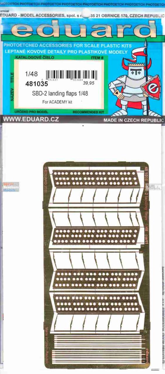 EDU481035 1:48 Eduard PE - SBD-2 Dauntless Landing Flaps (ACA kit)