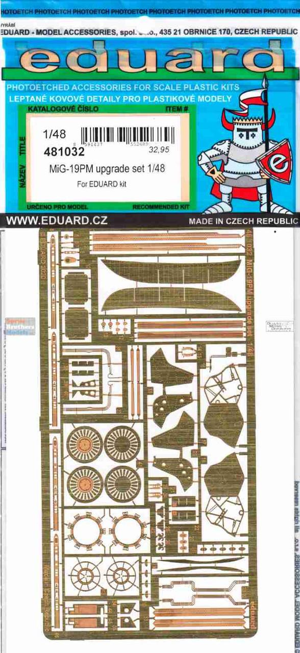 EDU481032 1:48 Eduard PE - MiG-19PM Farmer Upgrade Set (EDU kit)