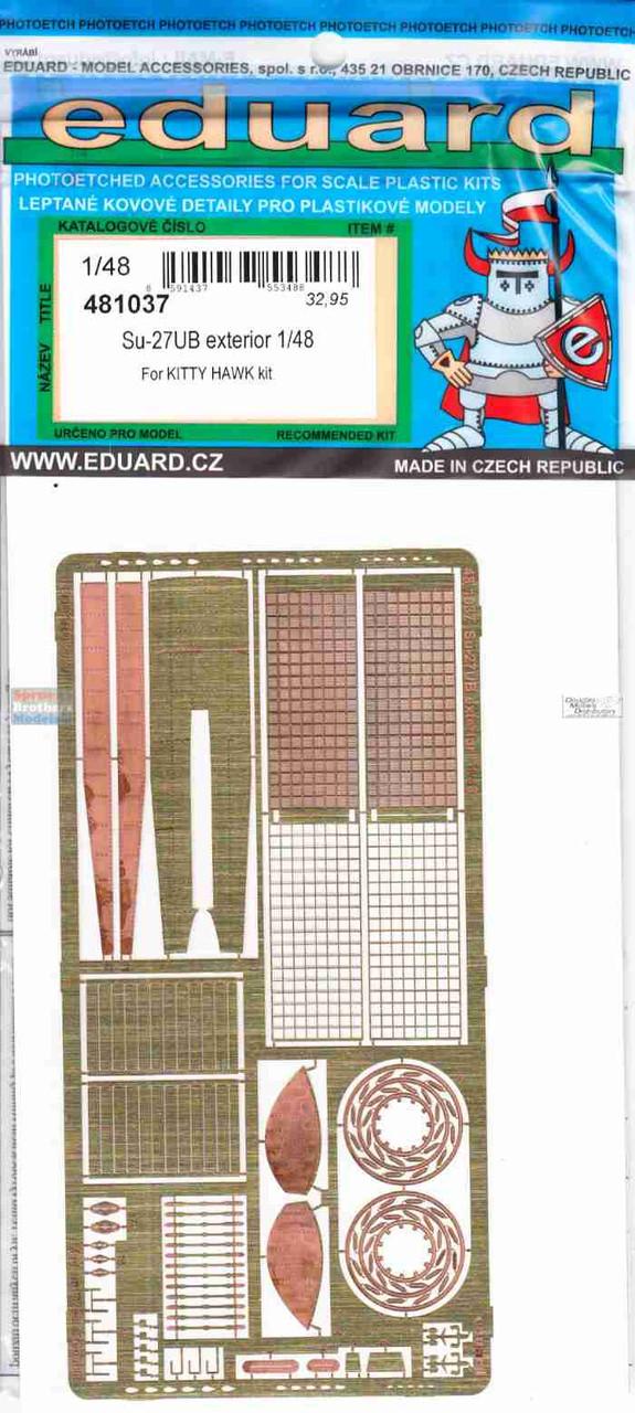 EDU481037 1:48 Eduard PE - Su-27UB Flanker Exterior Detail Set (KTH kit)