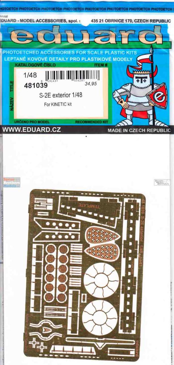 EDU481039 1:48 Eduard PE - S-2E Tracker Exterior Detail Set (KIN kit)