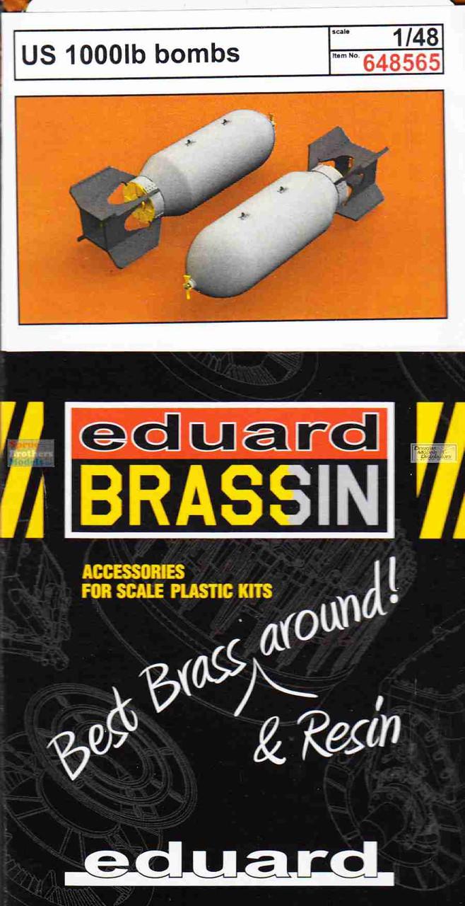 EDU648565 1:48 Eduard Brassin US 1000lb Bomb Set