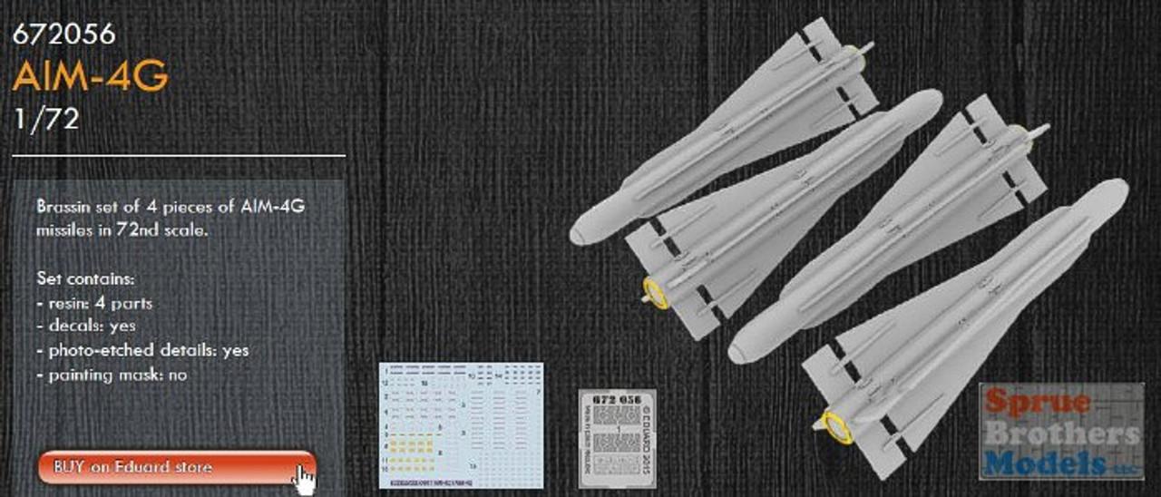 EDU672056 1:72 Eduard Brassin AIM-4G Falcon Missile Set