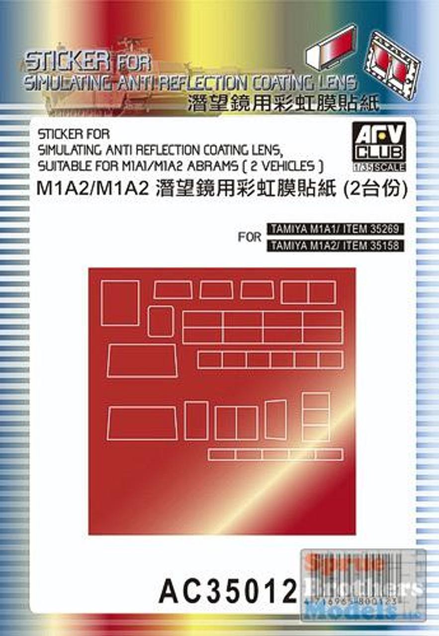 AFVAC35012 1:35 AFV Club M1A1 M1A2 Abrams Anti Reflection Coating Lens