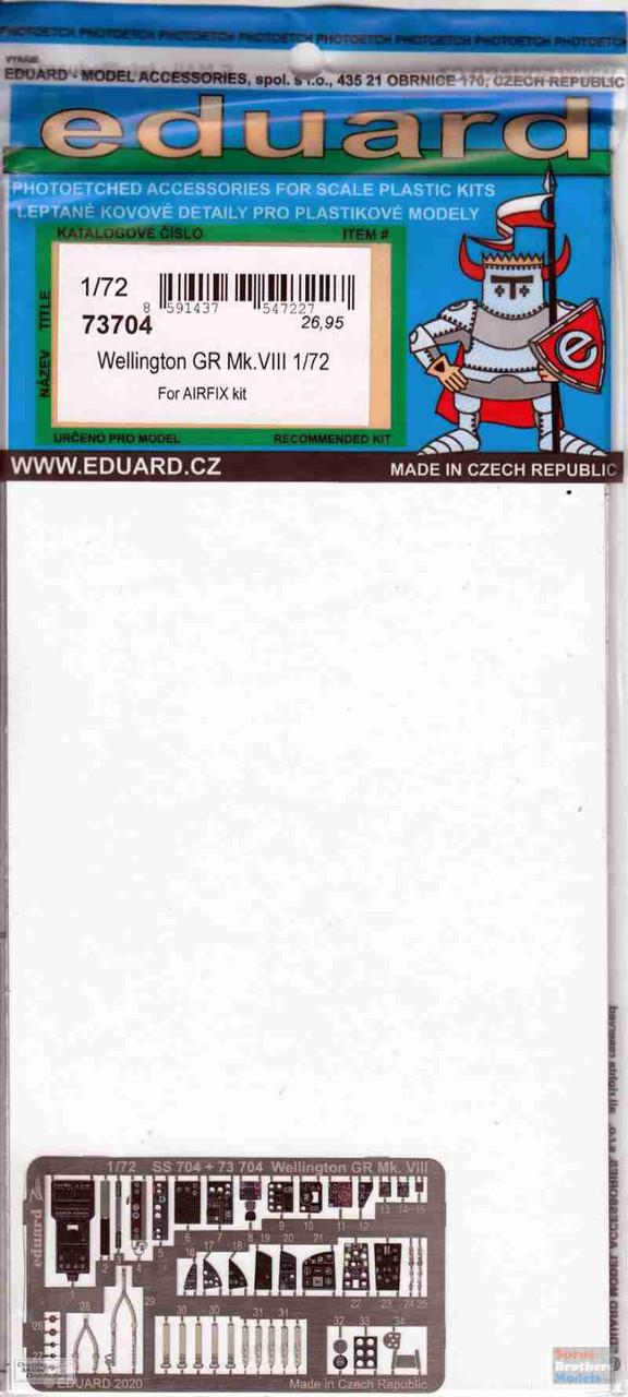 EDU73704 1:72 Eduard PE - Wellington GR Mk.VIII Detail Set (AFX kit)