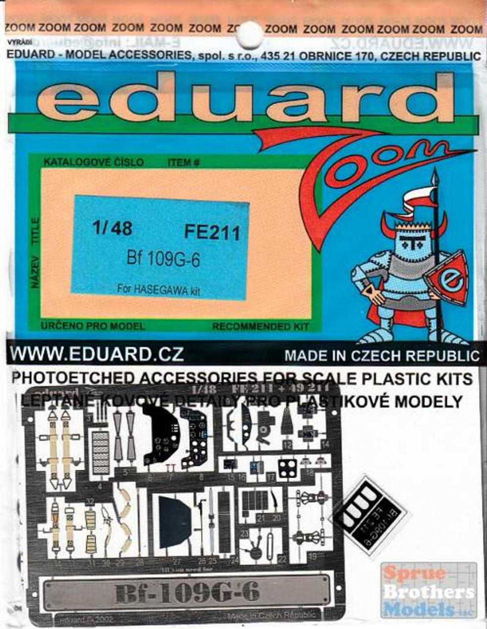 EDUFE211 1:48 Eduard Color Zoom PE - Bf 109G-6 (HAS kit)
