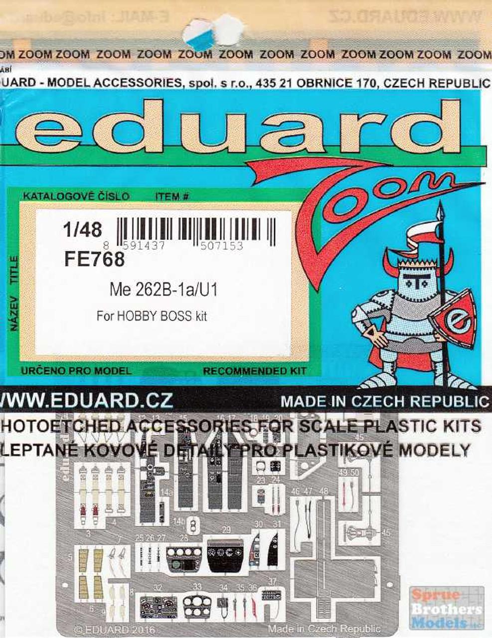 EDUFE768 1:48 Eduard Color Zoom PE - Me 262B-1a/U1 (HBS kit)