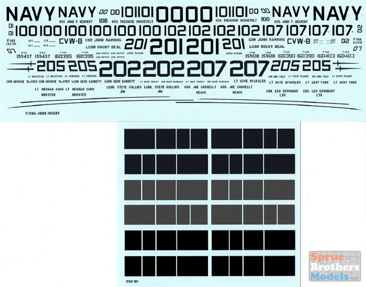 FURDS4808 1:48 Furball Aero Design F-14A Tomcat 'Colors and Markings of US Navy Tomcats' Part One VF-32 VF-41