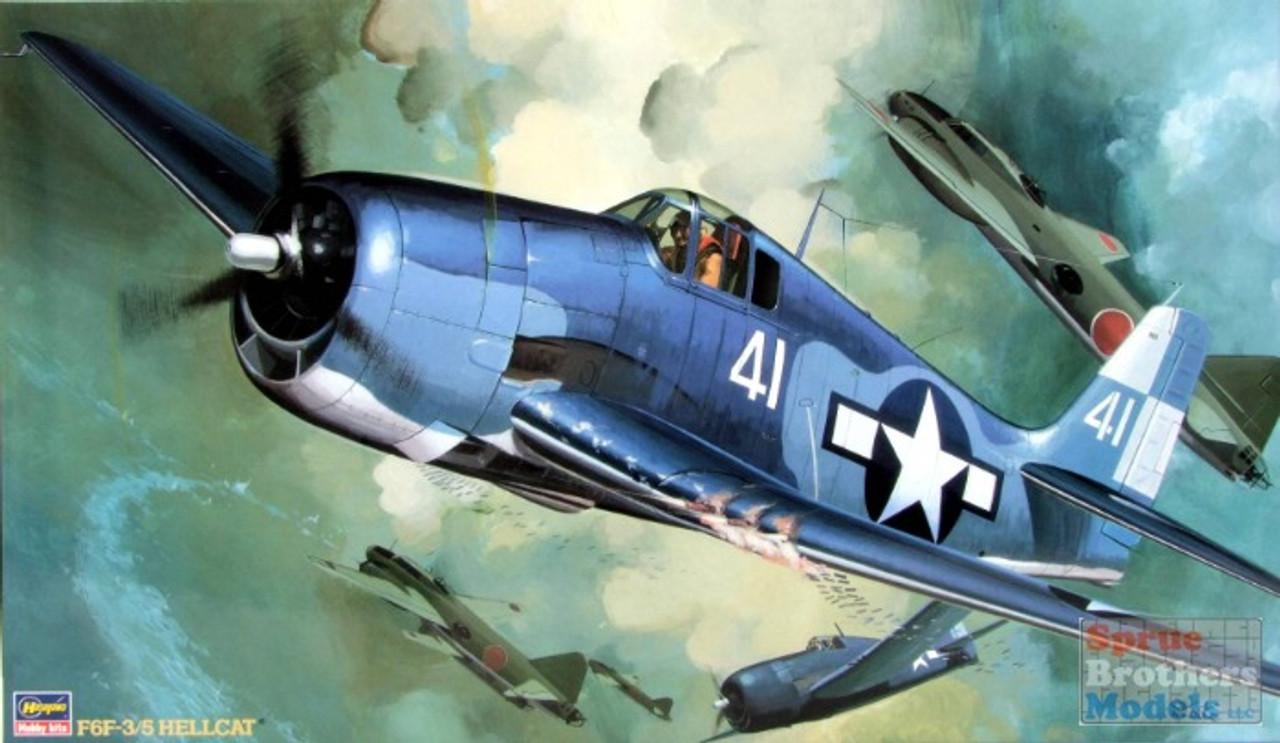 HAS08057 1:32 Hasegawa F6F-3 F6F-5 Hellcat
