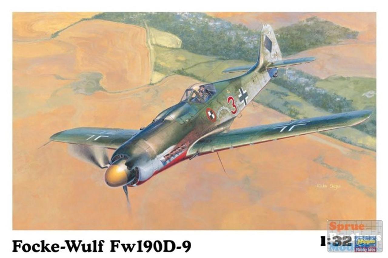 HAS08069 1:32 Hasegawa Fockewulf Fw190D-9