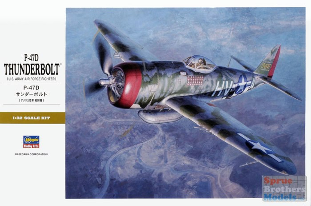 HAS08077 1:32 Hasegawa P-47D Thunderbolt