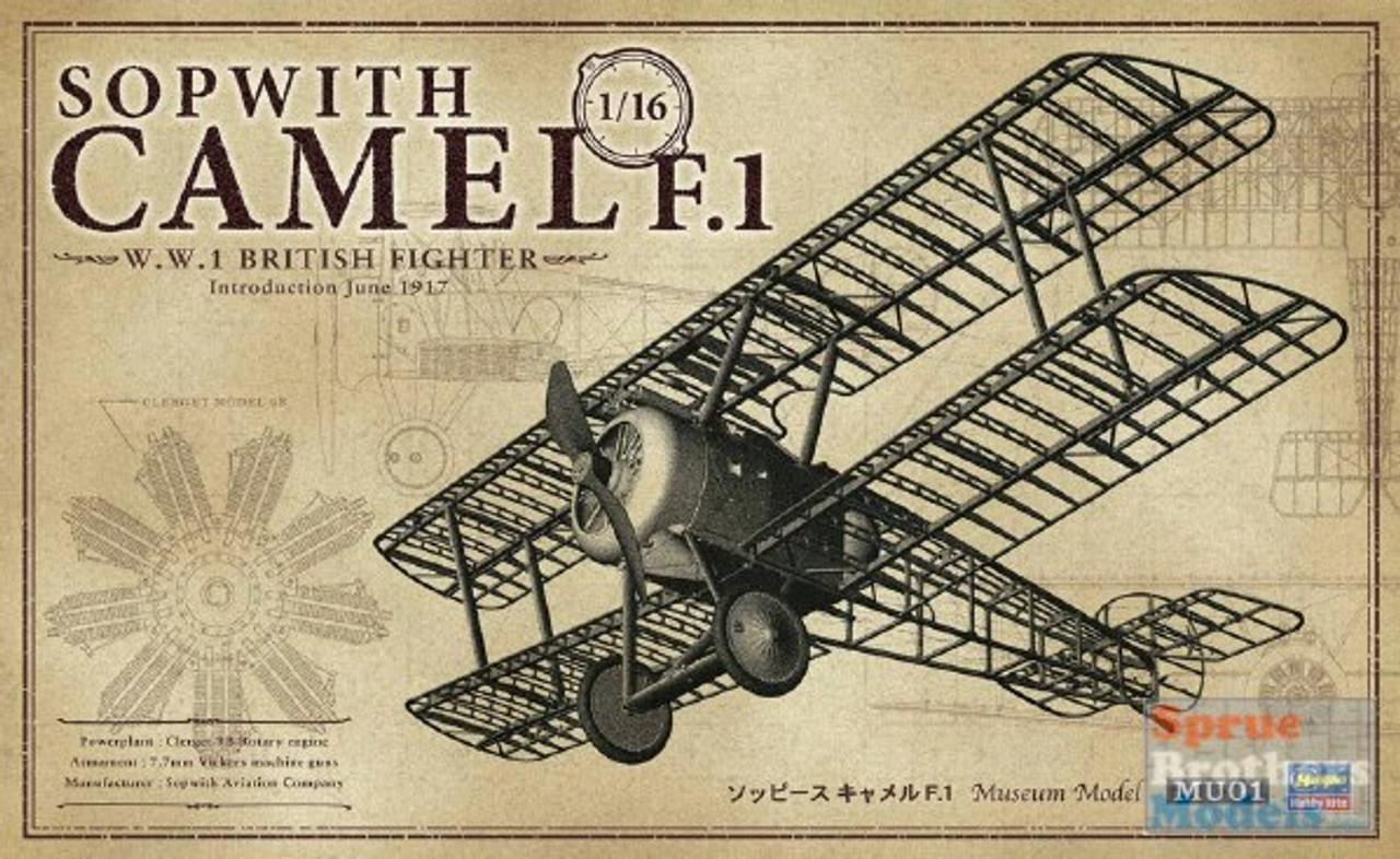 HAS50031 1:16 Hasegawa Sopwith Camel F.1 (Museum Model Series)