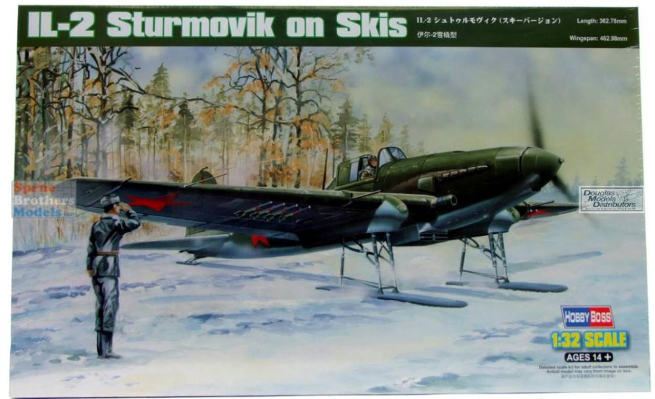 HBS83202 1:32 Hobby Boss IL-2 Sturmovik on Skis