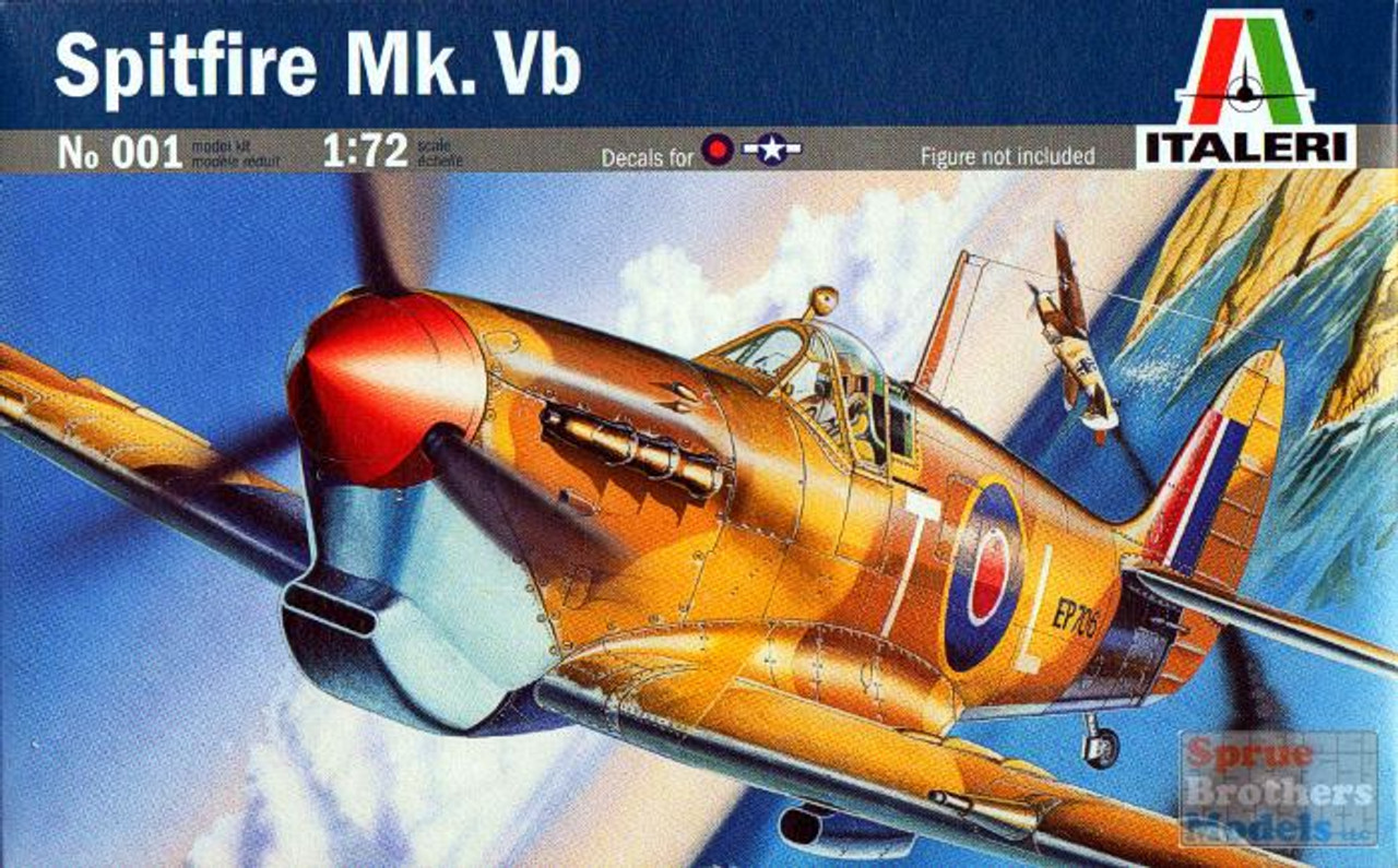 ITA0001 1:72 Italeri Spitfire Mk.Vb