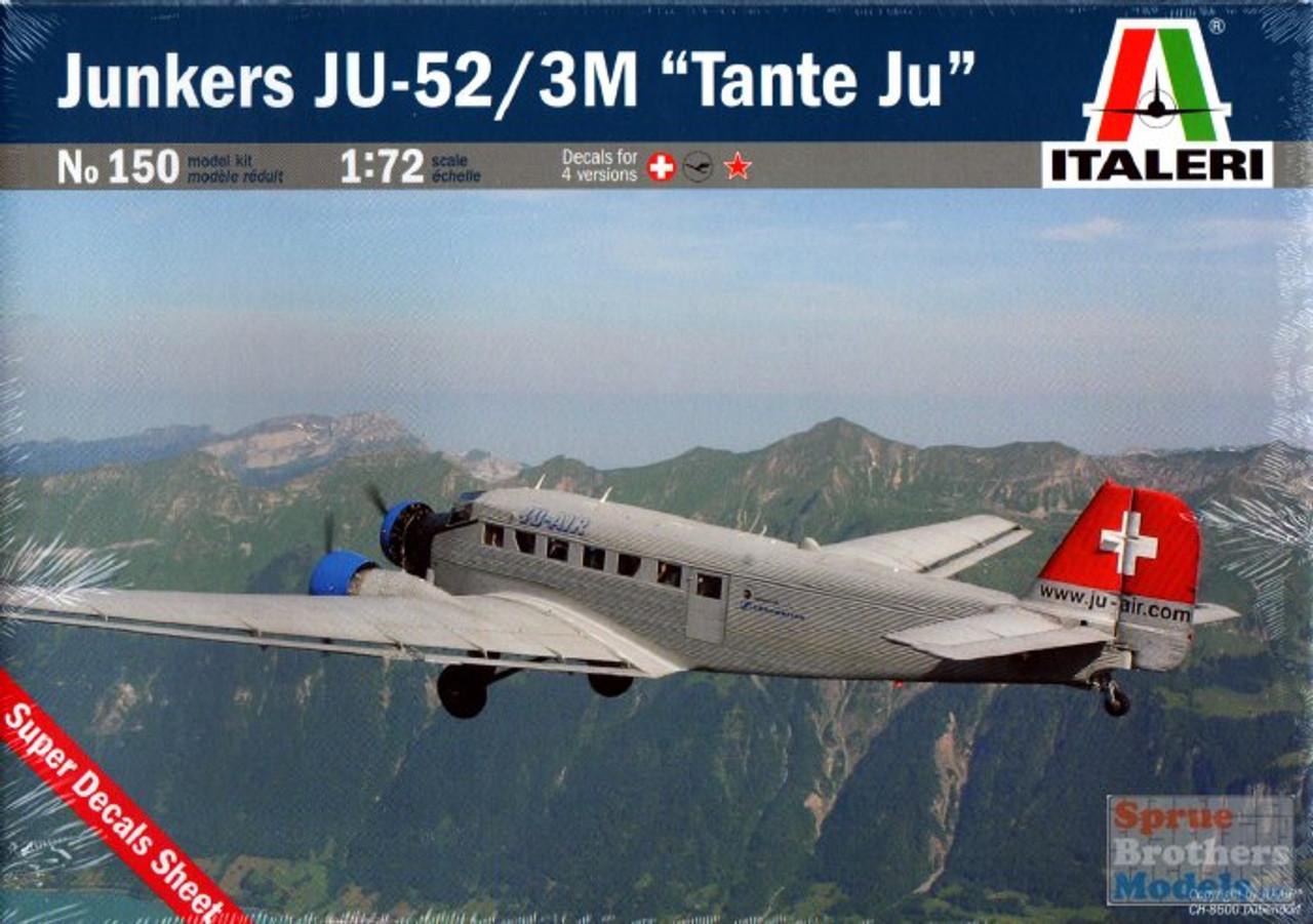 """ITA0150 1:72 Italeri Junkers Ju-52/3M """"Tante Ju"""""""