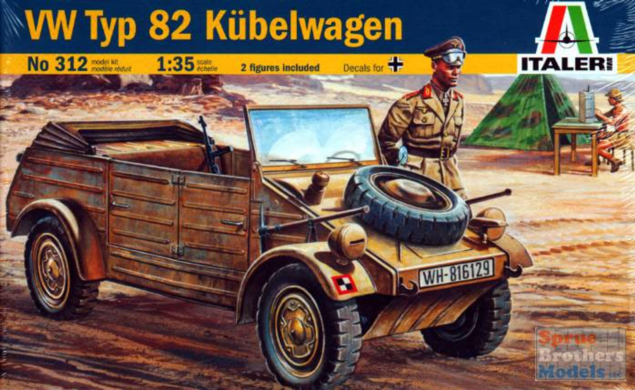 ITA0312 1:35 Italeri VW Typ 82 Kubelwagen