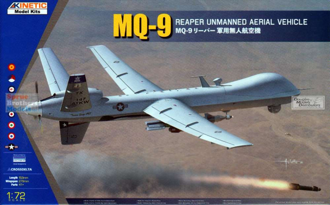 KIN72004 1:72 Kinetic MQ-9 Reaper Unmanned Aerial Vehicle