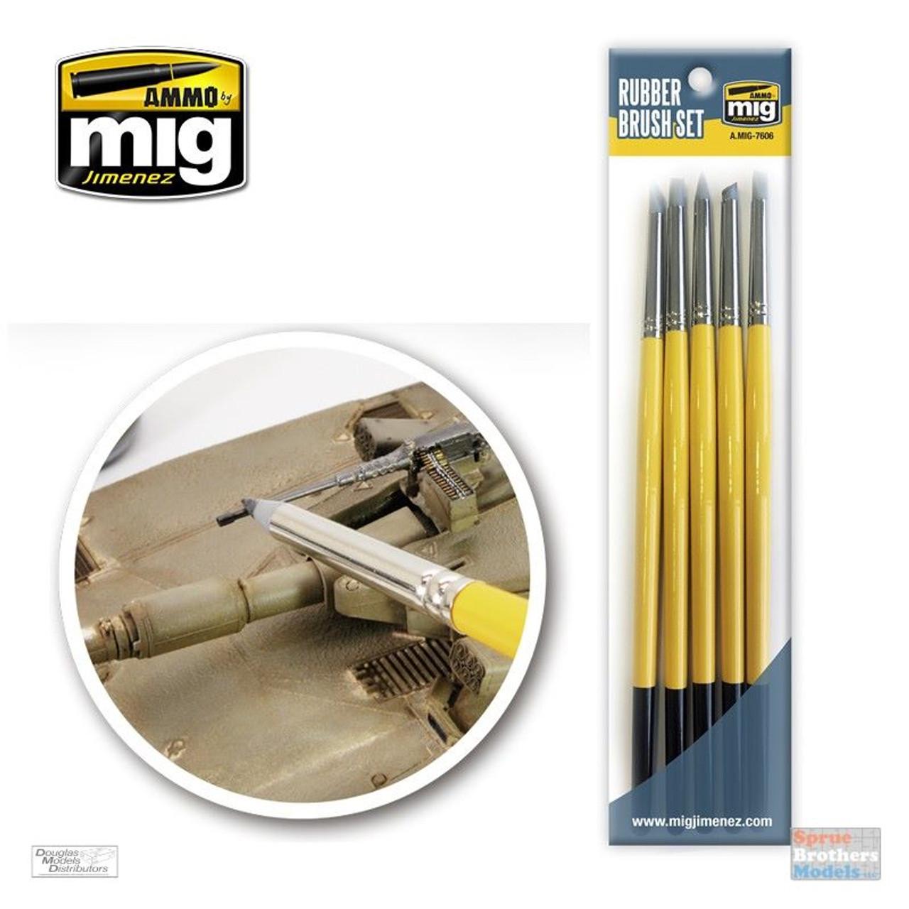 AMM7606 AMMO by Mig - Rubber Brush Set