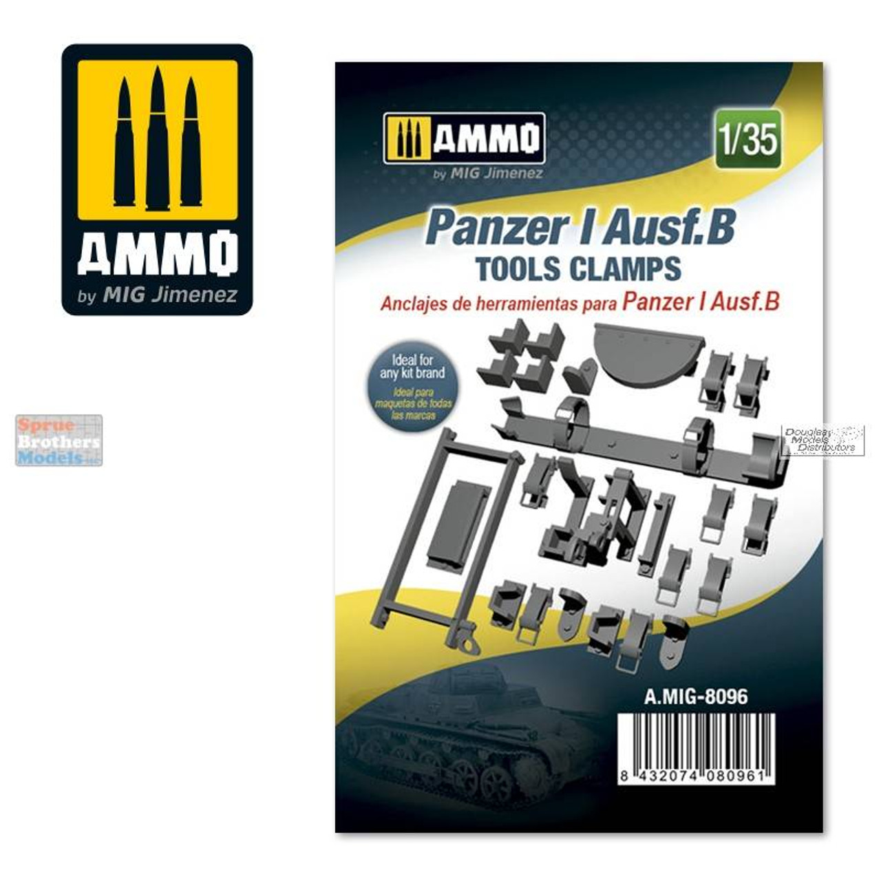 AMM8096 1:35 AMMO by Mig Panzer I Ausf.B Tools Clamps