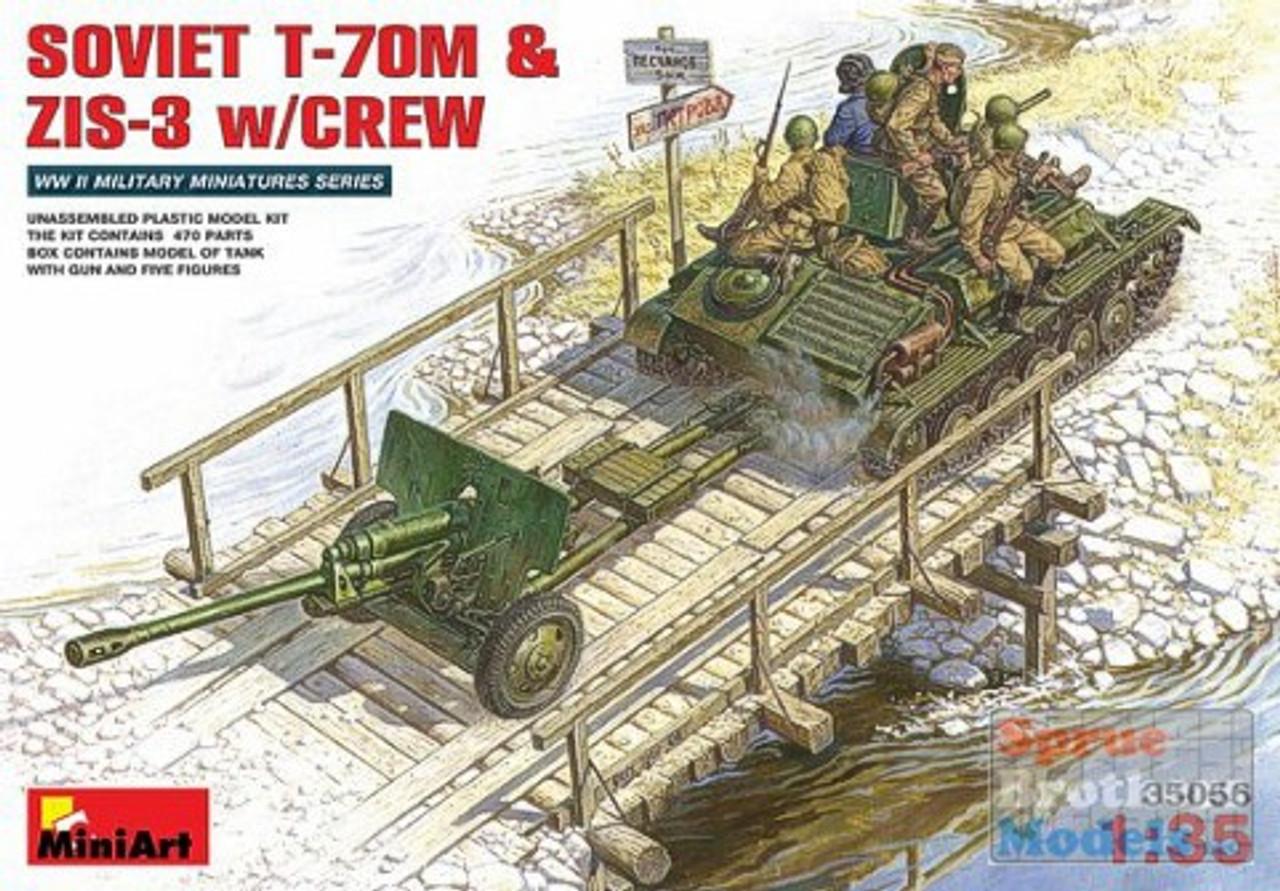 MIA35056 1:35 MiniArt Soviet T-70M & ZiS-3 w/Crew