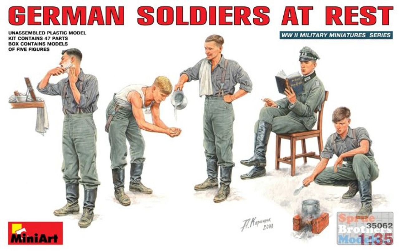 MIA35062 1:35 MiniArt German Soldiers at Rest  (5 figures)