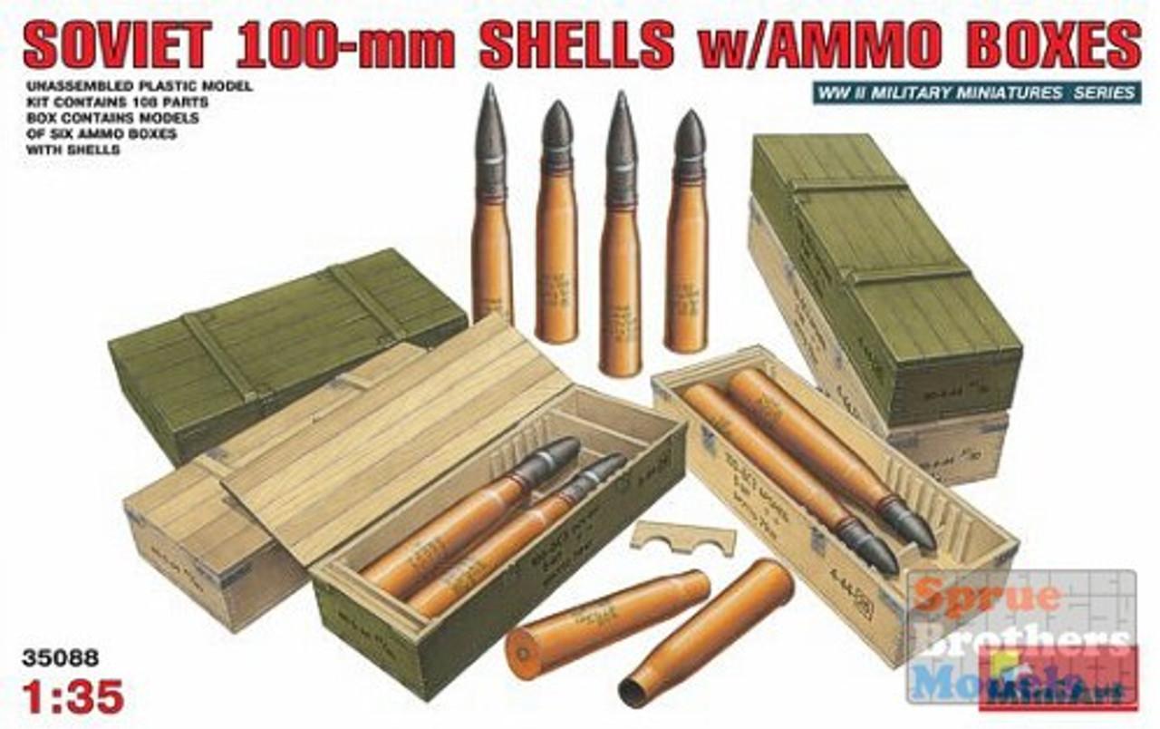 MIA35088 1:35 MiniArt Soviet 100mm Shells w/Ammo Boxes #35088