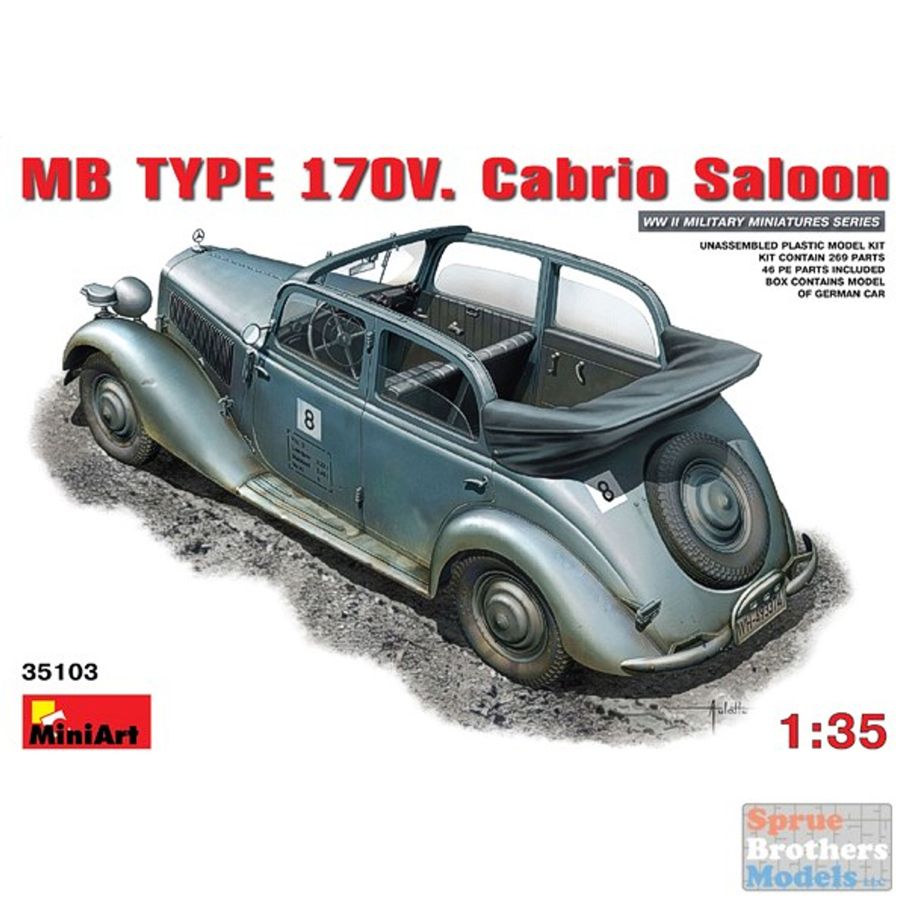 MIA35103 1:35 MiniArt MB Type 170V Cabrio Saloon