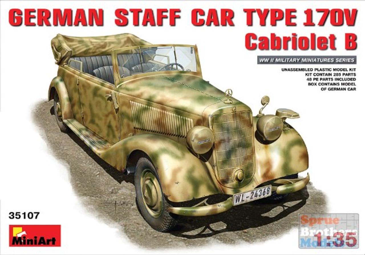 MIA35107 1:35 Miniart German Staff Car Type 170V Cabriolet B #35107
