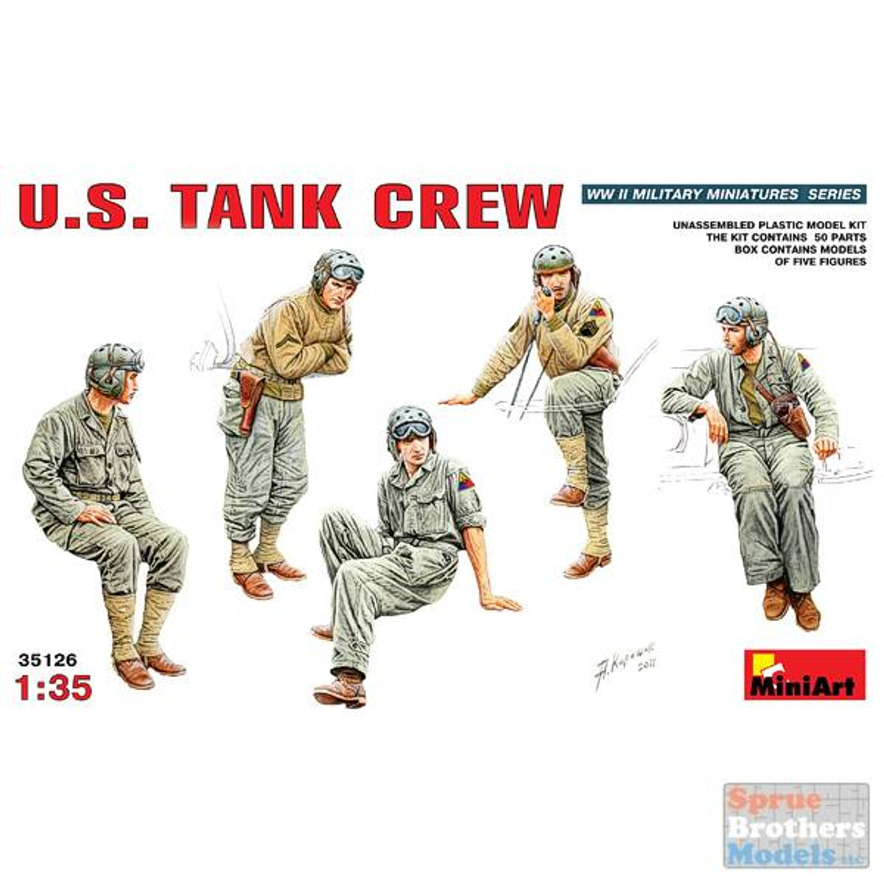 MIA35126 1:35 Miniart US Tank Crew
