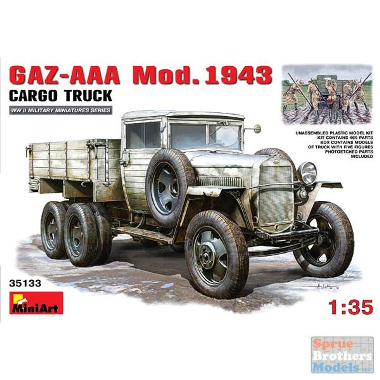 MIA35133 1:35 Miniart GAZ-AAA Cargo Truck Mod 1943