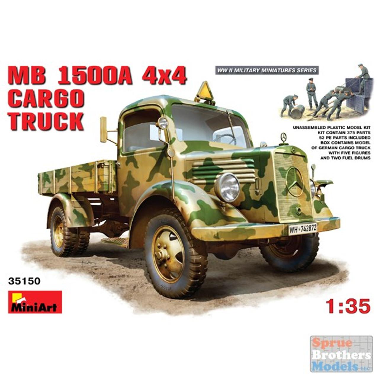 MIA35150 1:35 Miniart MB 1500A 4x4 Cargo Truck