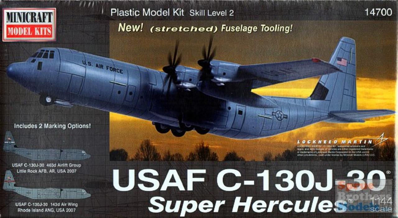 MIN14700 1:144 Minicraft USAF C-130J-30 Super Hercules