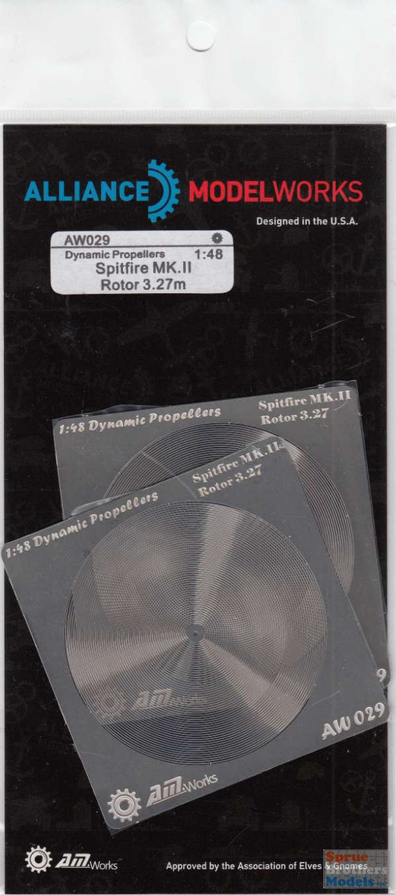 AMWAW029 1:48 Alliance Modelworks Prop Blur - Spitfire Mk II Rotor 3.27m (2 pcs)