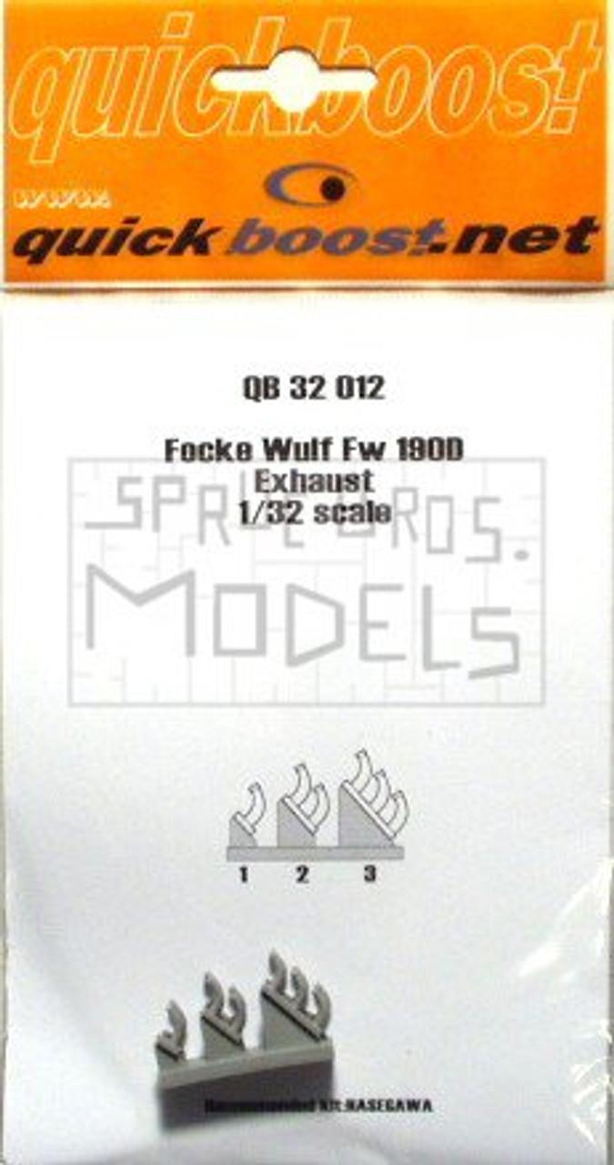 QBT32012 1:32 Quickboost Fw190D Exhausts (HAS kit) #32012