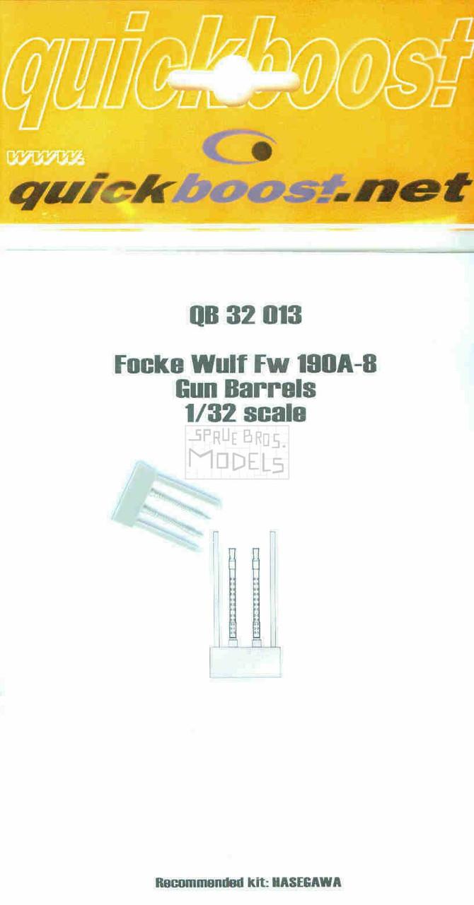 QBT32013 1:32 Quickboost Fw190A-8 Gun Barrels (HAS kit) #32013