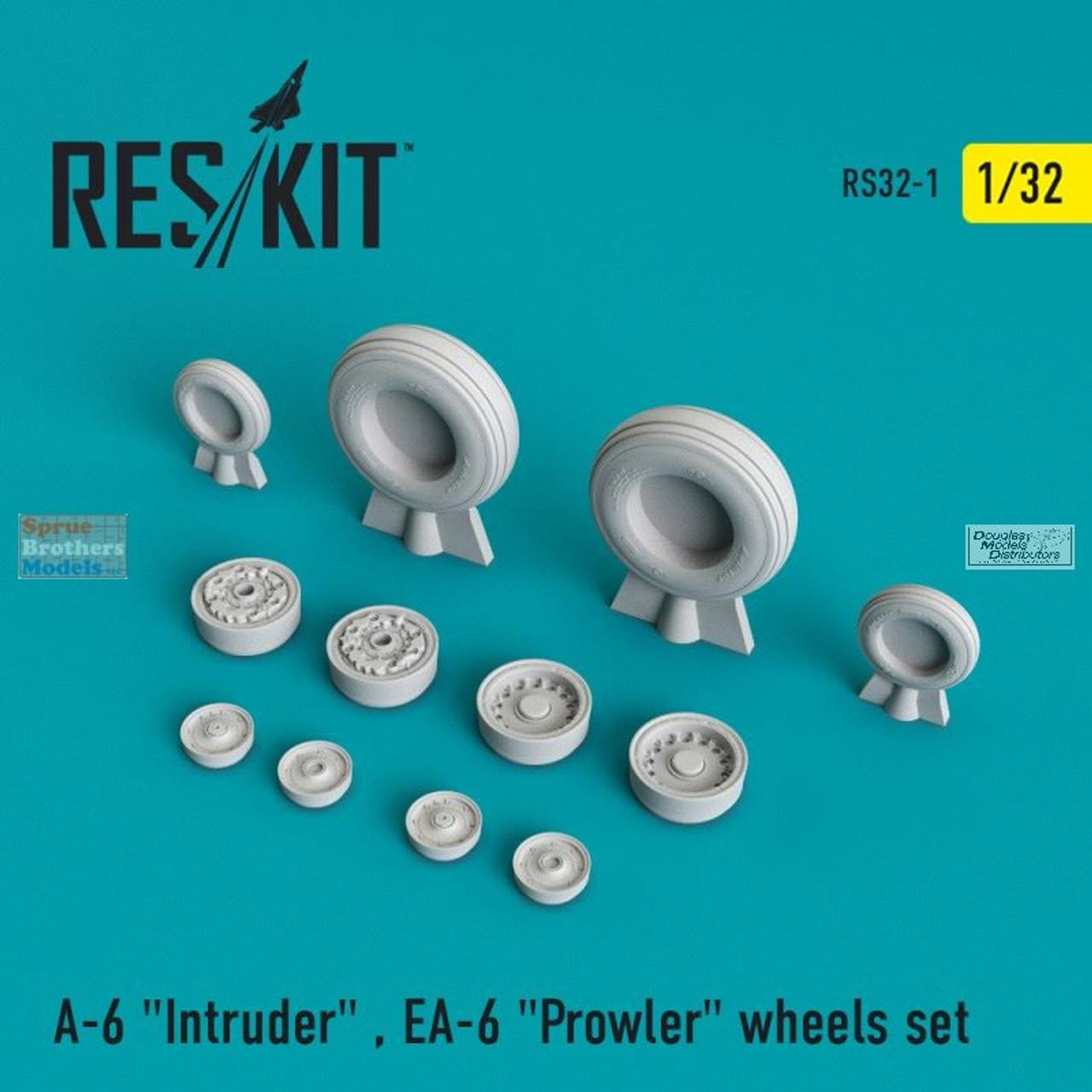 RESRS320001 1:32 ResKit A-6 Intruder EA-6 Prowler Wheels Set