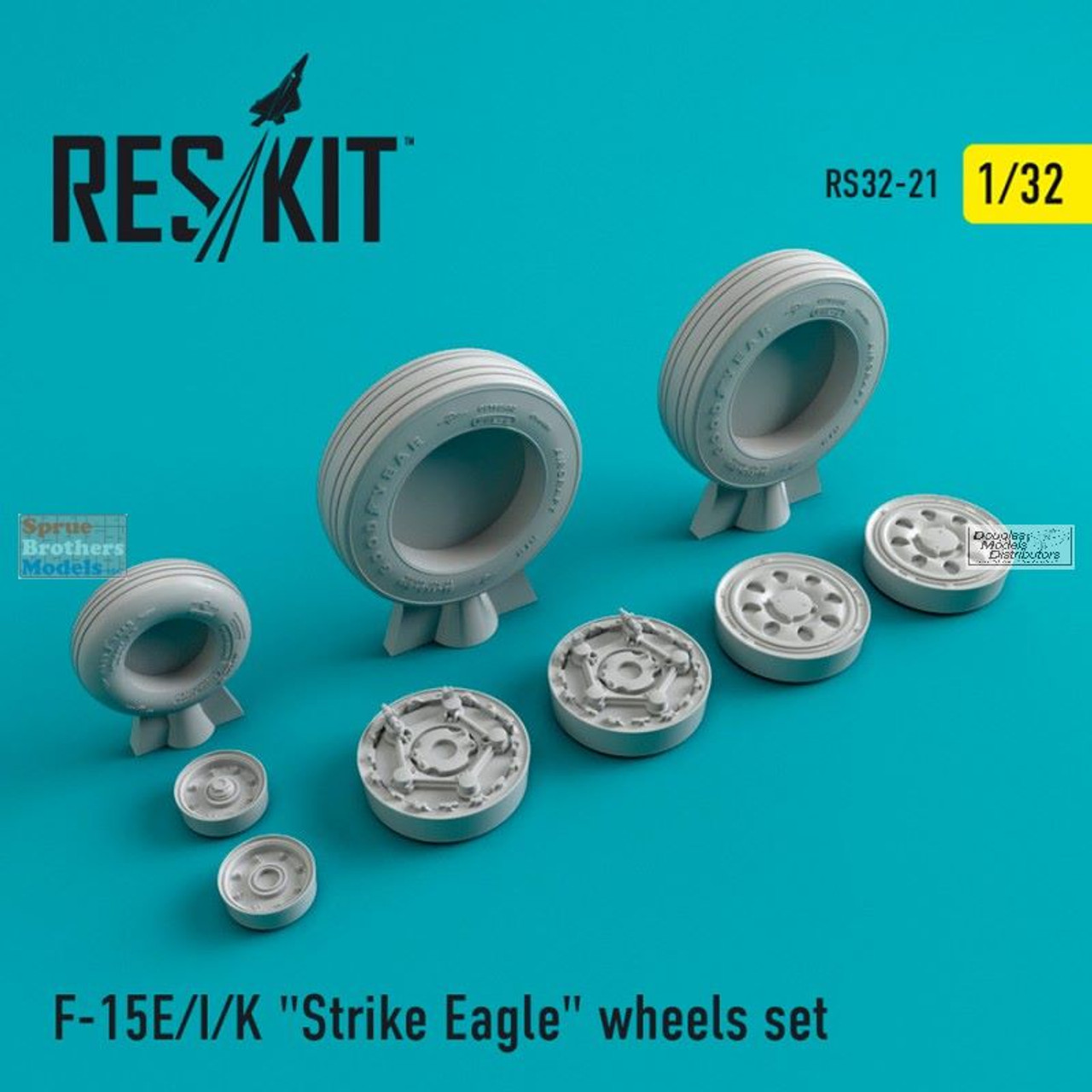 RESRS320021 1:32 ResKit F-15E F-15I F-15K Strike Eagle Wheels Set