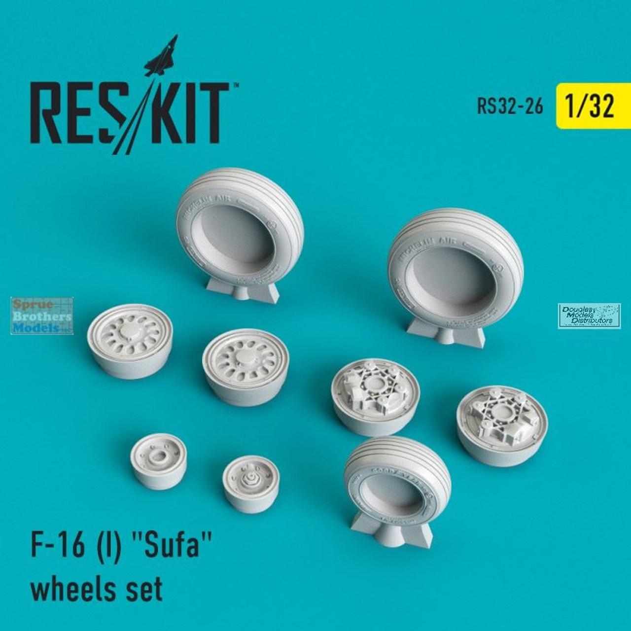 RESRS320026 1:32 ResKit F-16I Sufa Wheels Set