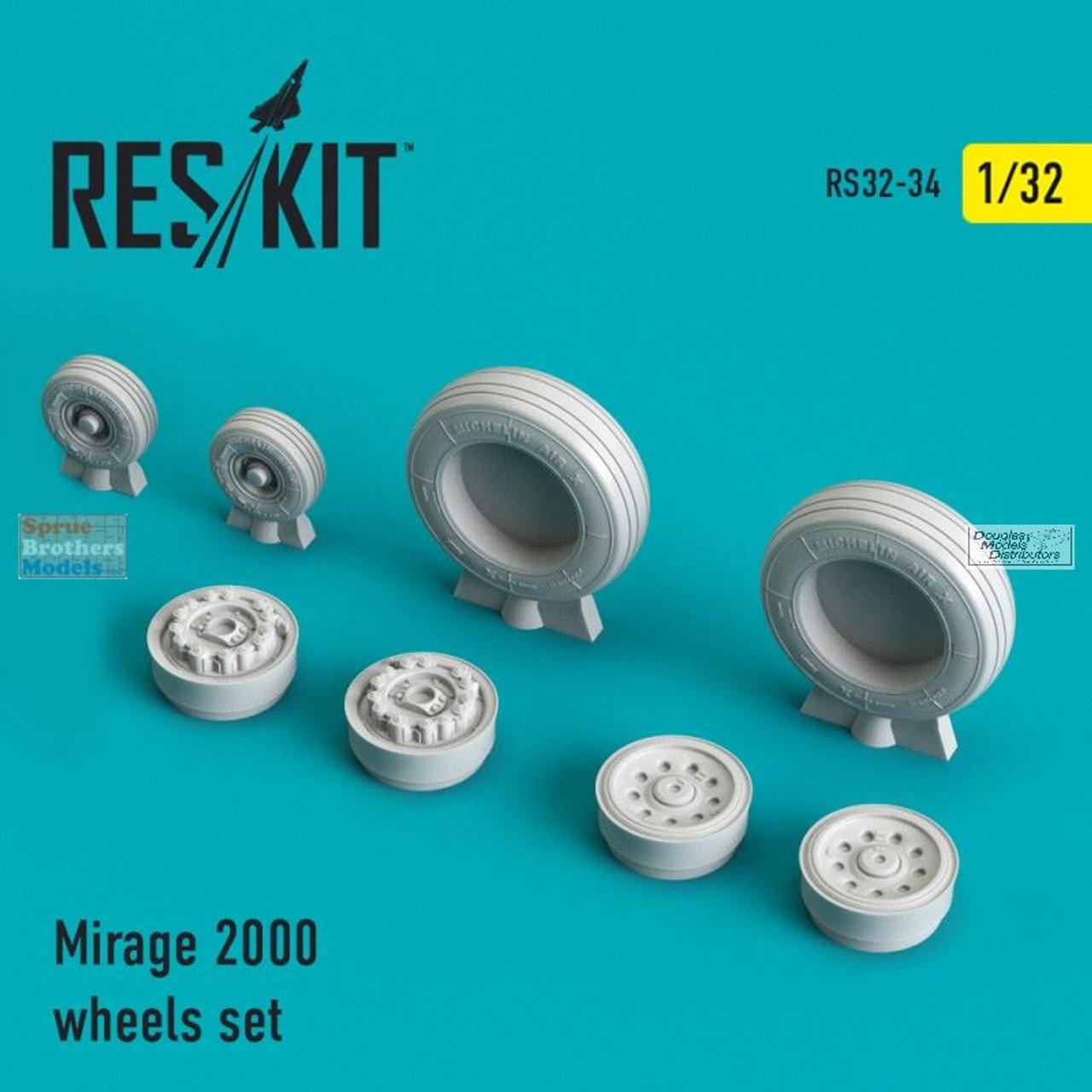 RESRS320034 1:32 ResKit Mirage 2000 Wheels Set