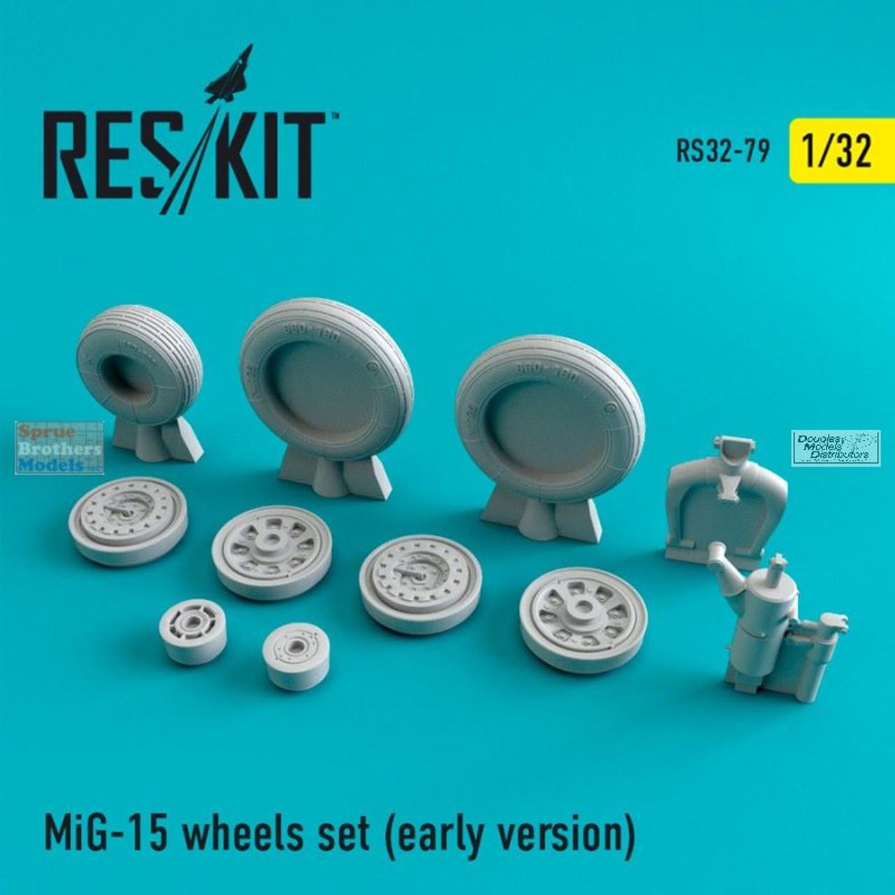 RESRS320079 1:32 ResKit MiG-15 Fagot Early Wheels Set