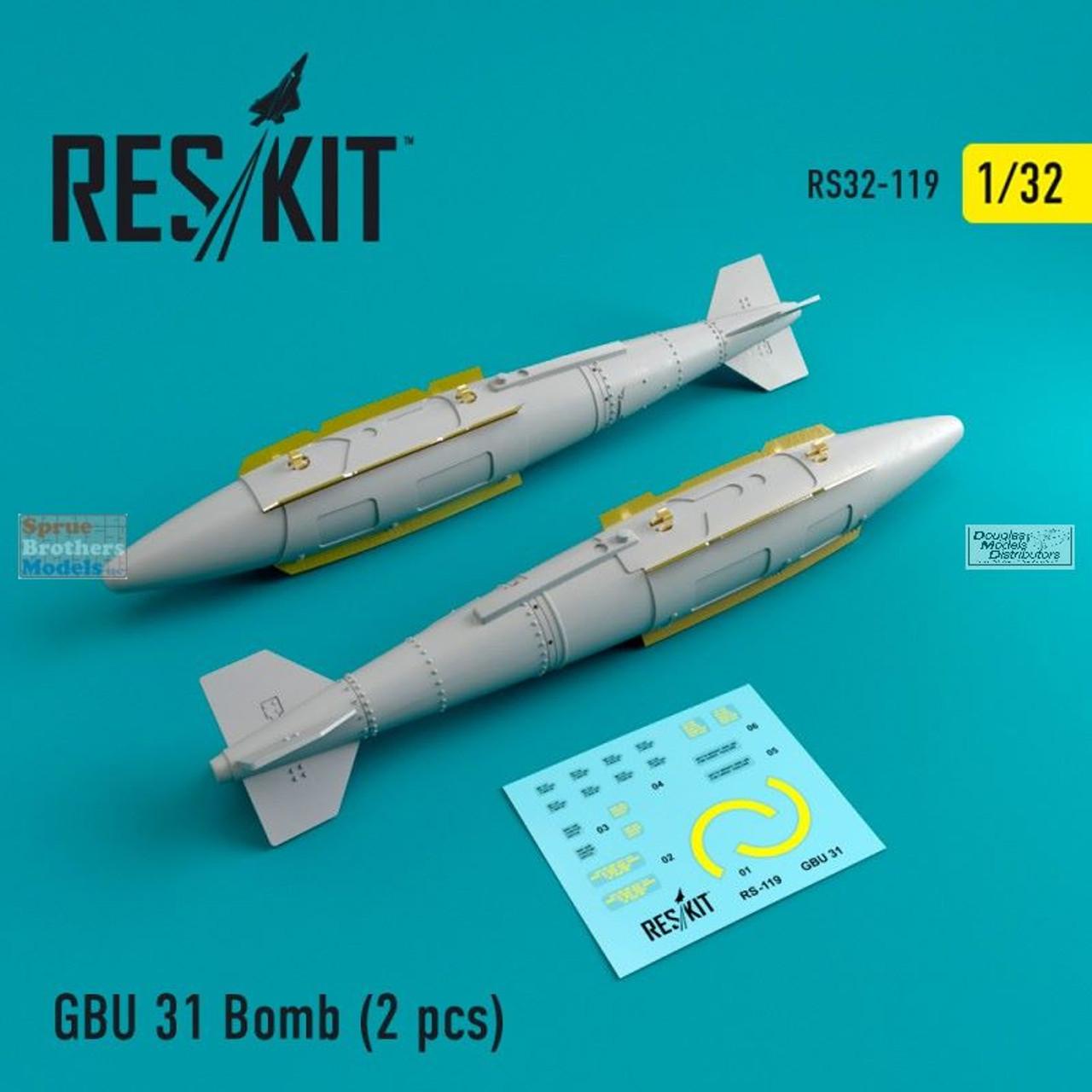 RESRS320119 1:32 ResKit GBU-31 Bomb Set
