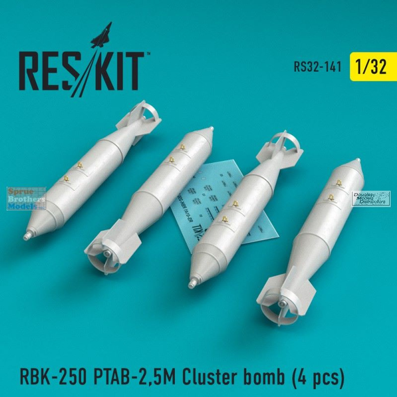 RESRS320141 1:32 ResKit RBK-250 PTAB-2.5M Cluster Bomb Set