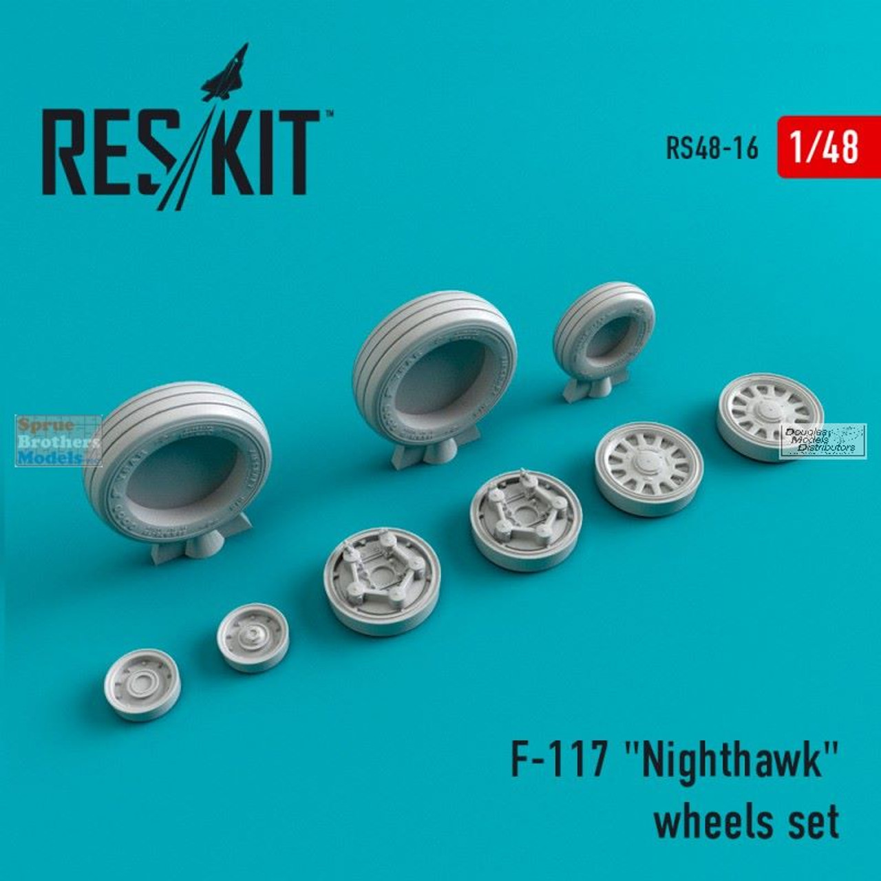 RESRS480016 1:48 ResKit Lockheed F-117 Nighthawk Wheels Set