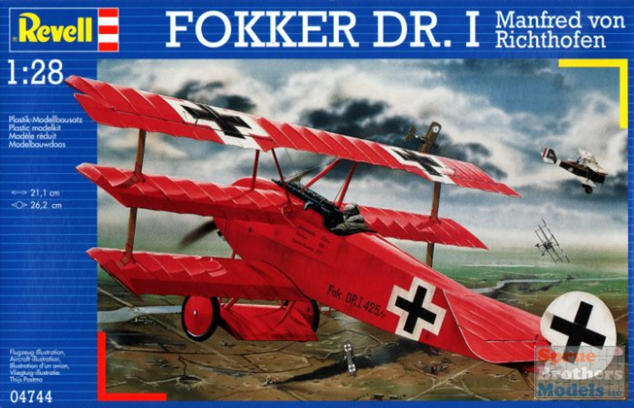 RVG04744 1:28 Revell Germany Fokker Dr.I Manfred von Richthofen